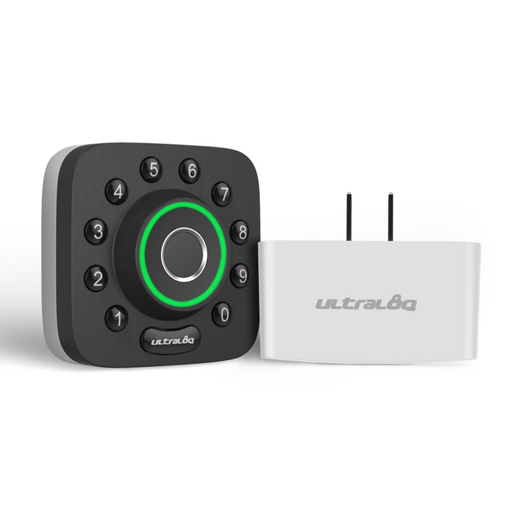 U-Bolt Pro 6-in-1 Bluetooth Enabled Fingerprint and Keypad Smart Lock Deadbolt Plus Bridge WiFi Adapter