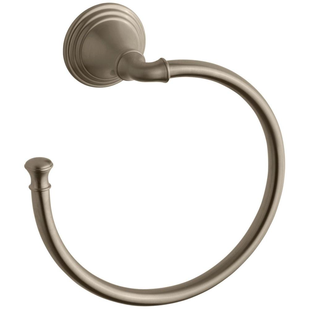Devonshire Towel Ring in Vibrant Brushed Bronze