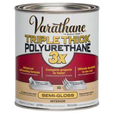 1 qt. Semi-Gloss Triple Thick Polyurethane (Case of 2)