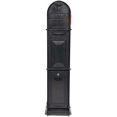 Classic Shadow 5-Door Front and Back Access Lockable Ground Mount Mailbox in Oil Rubbed Bronze