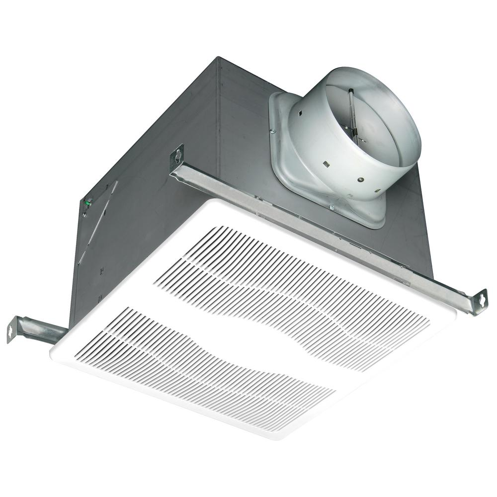 White 150 CFM Single Speed 0.6 Sone Ceiling Exhaust Bath Fan,