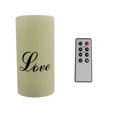 """Love"" LED Flameless Candle with Remote Control"