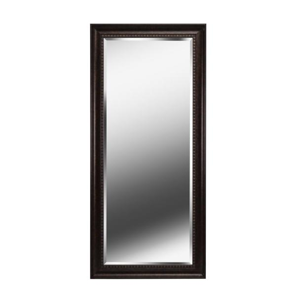 Oversized Bronze Plastic Beveled Glass Classic Mirror (66 in. H X 30 in. W)