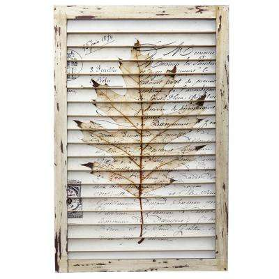 Maple Leaf Window Shutter Wall Decor