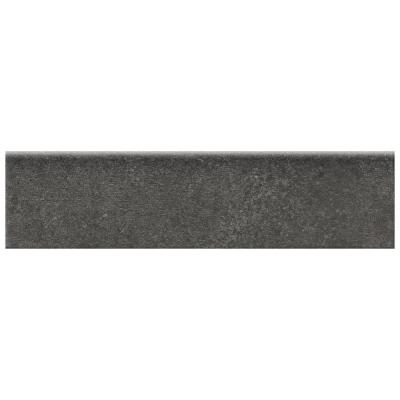 Eclectic Vintage Charcoal Concrete 3 in. x 12 in. Porcelain Bullnose Floor and Wall Tile (0.26 sq. ft. / piece)