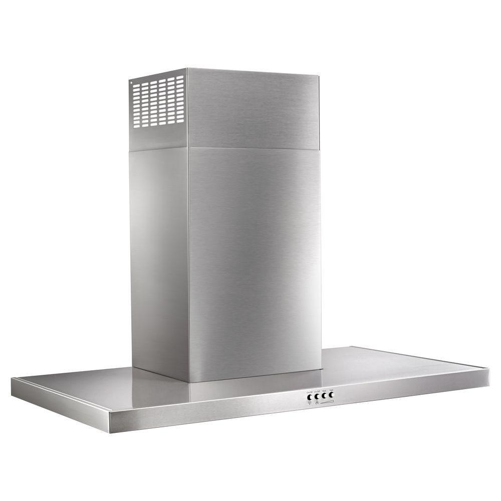 36 in. Wall Mount Flat Range Hood in Stainless Steel