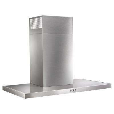 36 in. Steel Wall Mount Flat Range Hood in Stainless Steel