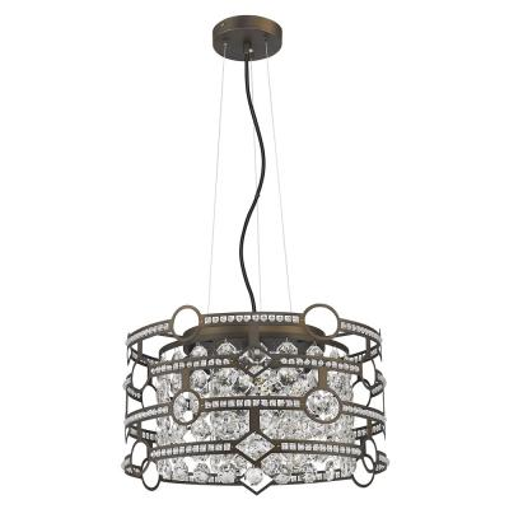 Meghan Indoor 5-Light Chandelier with Crystal in Oil Rubbed Bronze