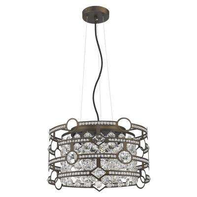Meghan Indoor 5-Light Chandelier with Crystal in Oil Rubbed Bronze