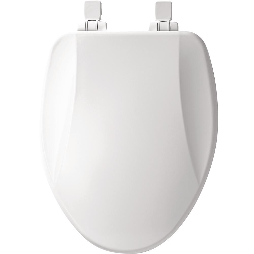 Swell Bemis Slow Close Lift Off Elongated Closed Front Toilet Seat In White Dailytribune Chair Design For Home Dailytribuneorg