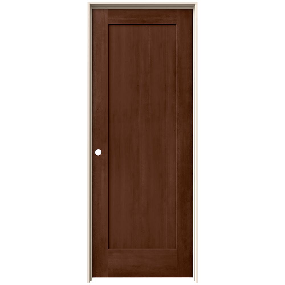 Jeld Wen 32 In X 80 In Madison Milk Chocolate Stain Right Hand Solid Core Molded Composite Mdf