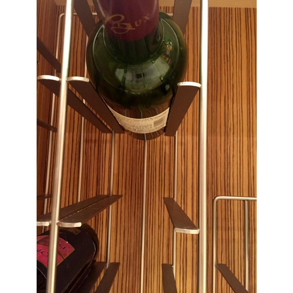 Pilare 9-Bottle Gray Floor Wine Rack