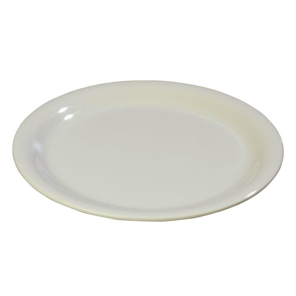 7.25 in. Diameter Melamine Narrow Rim Salad Plate in Bone (Case