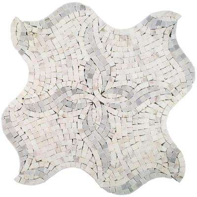 Starfish Marble Floor and Wall Tile - 3 in. x 6 in. Tile Sample