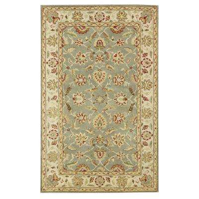 Old London Green/Ivory 4 ft. x 6 ft. Area Rug