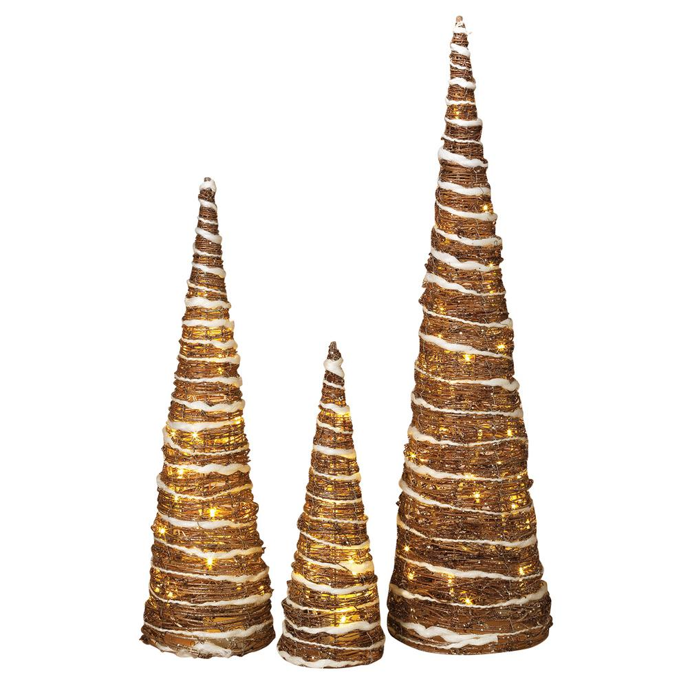 h nested champagne trees set of 3