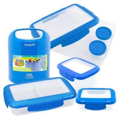 5-Piece Food Storage Container Assorted Pack in Blue