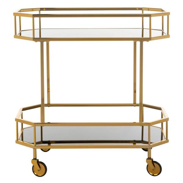 Silva 2-Tier Brass Bar Cart