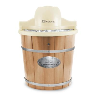 Gourmet 4 Qt. Old Fashioned Wood Bucket Ice Cream Maker