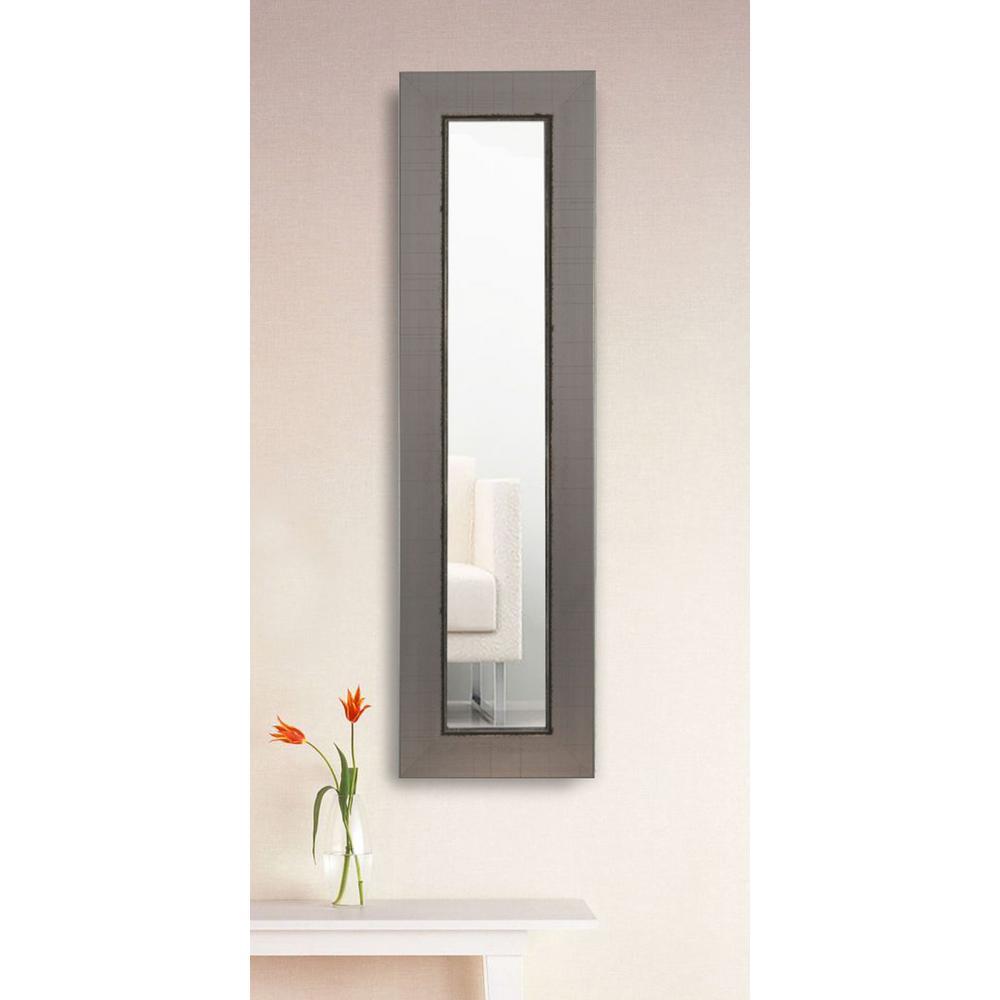 29 in. x 11 in. Silver Swift Panel Vanity Mirror