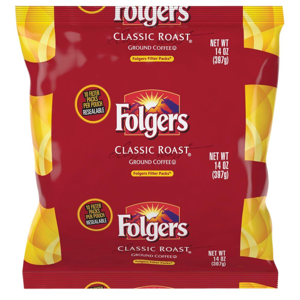 Folgers Classic Roast Ground Coffee Filter Pack Ground Ca...
