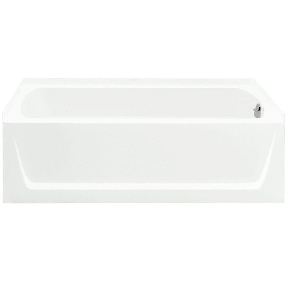 Ensemble 5 ft. Right Drain Soaking Tub in White