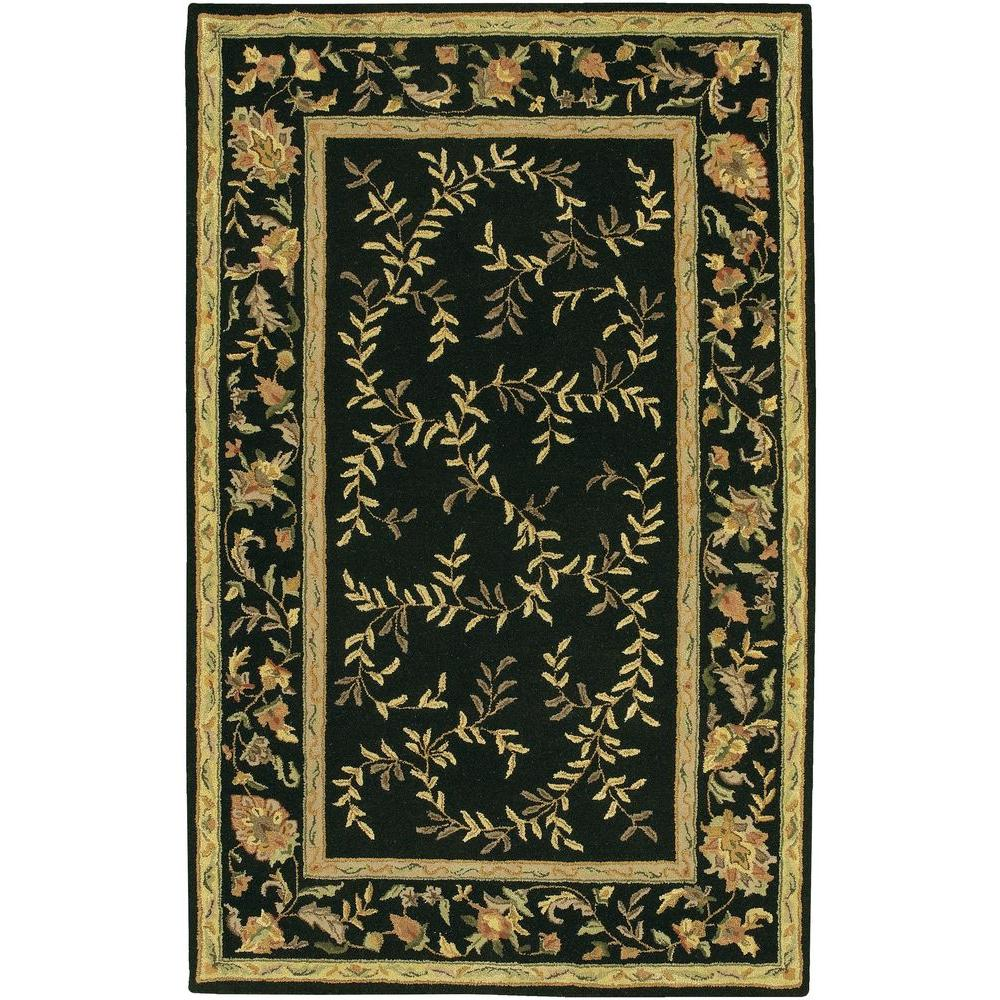 Chandra Metro Black Gold Green Brown 5 Ft X 8 Ft Indoor Area Rug
