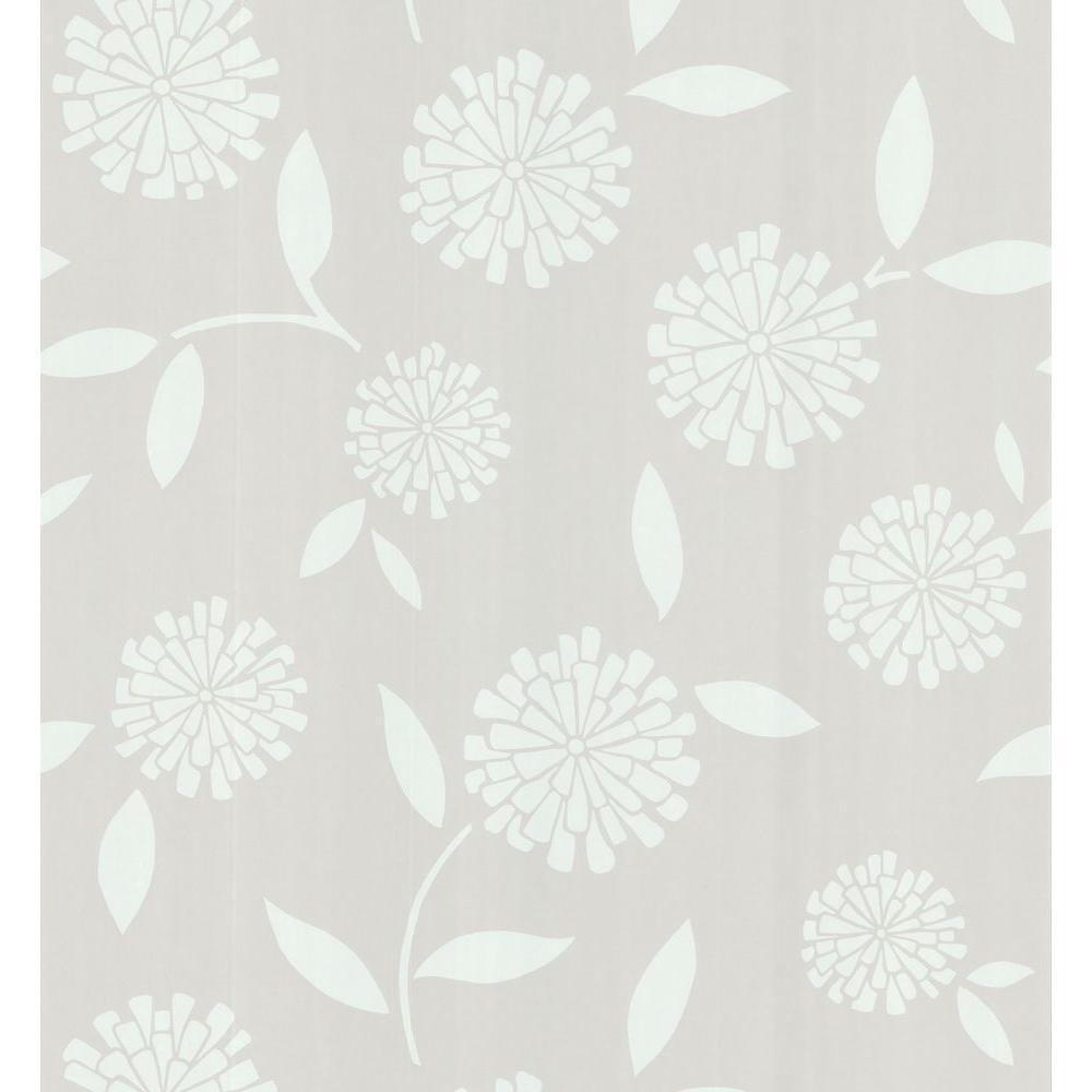 Brewster Zinnia Flower Wallpaper 141 62122 The Home Depot
