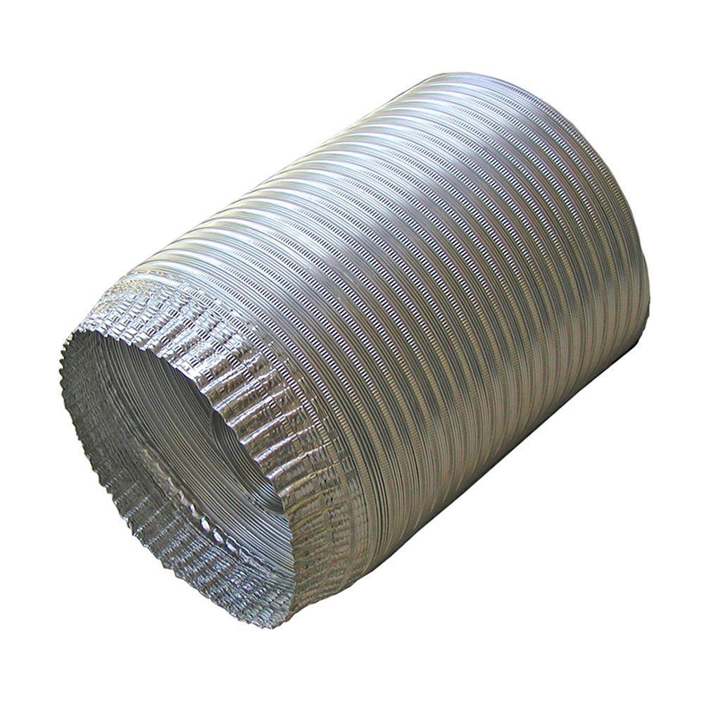 4 in. x 96 in. Aluminum Flex Pipe Crimped One End