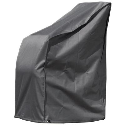 Outdoor 26 in. x 34 in. x 47 in. Black Rectangular Patio Dining Chair Set Cover