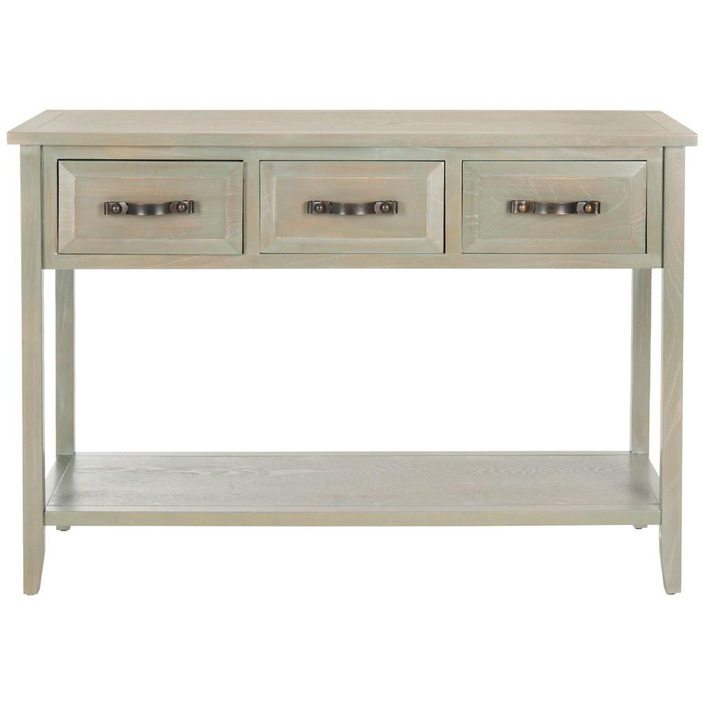 Safavieh aiden antique grey storage console table amh6502b Console tables with storage