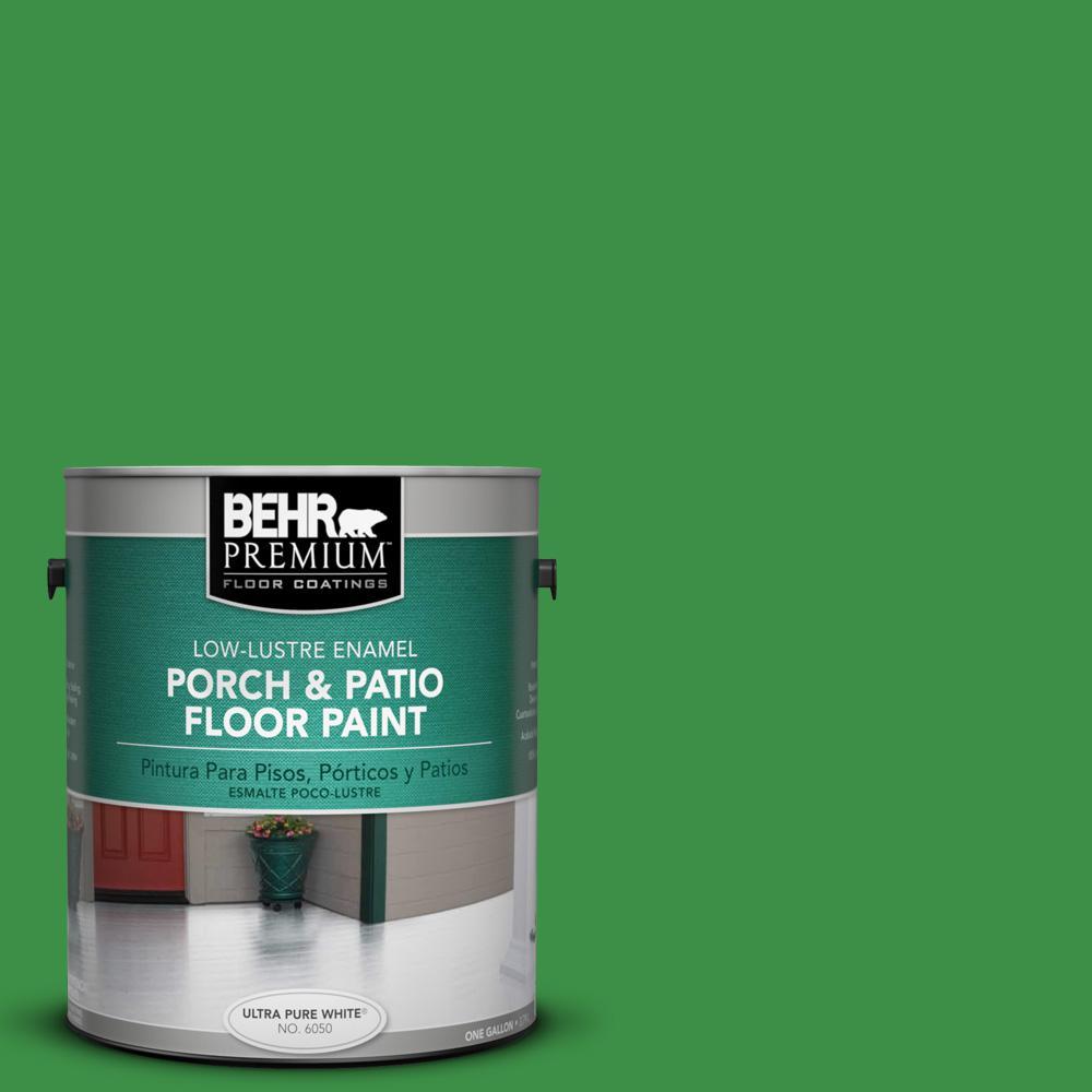 1 gal. #440B-7 Par Four Green Low-Lustre Interior/Exterior Porch and Patio Floor Paint