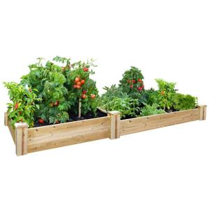 Cedar Raised Garden Bed RC 4C8T2   The Home Depot