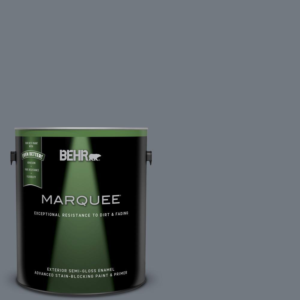1 gal. #N510-5 Liquid Mercury color Semi-Gloss Enamel Exterior Paint