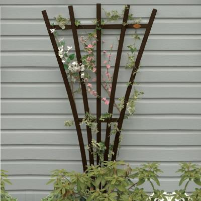 Weathered Acorn Recycled Plastic Hartford Fan Trellis