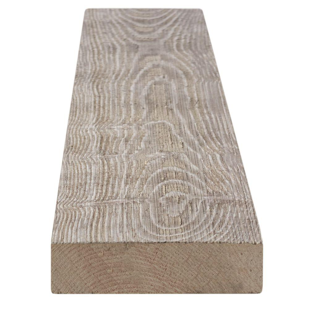 1 in. x 4 in. x 8 ft. Weathered Barn Wood Gray Pine Trim ...