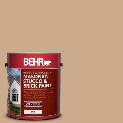 1-gal. #MS-30 Husk Satin Interior/Exterior Masonry, Stucco and Brick Paint