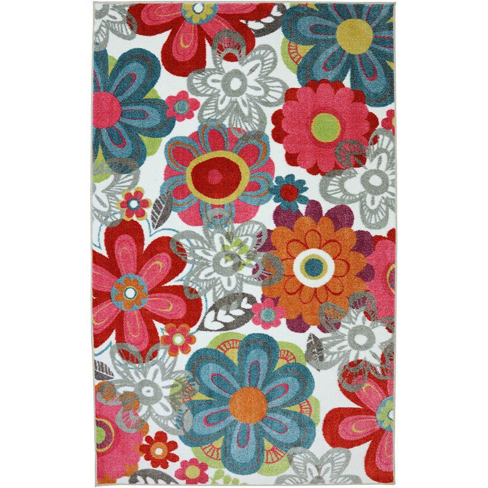 American Rug Craftsmen Teen Floral Multi 5 ft. x 8 ft. Area Rug