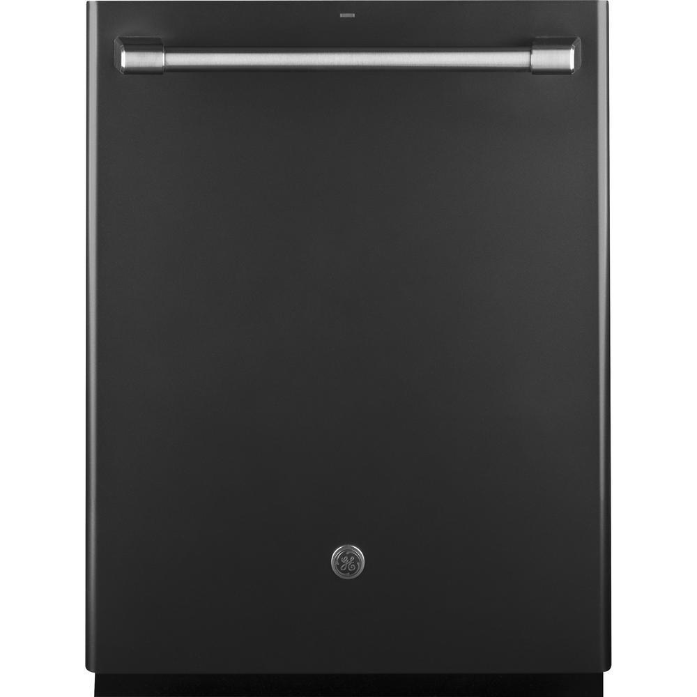 Cafe Top Control Dishwasher in Black Slate with Stainless Steel Tub,