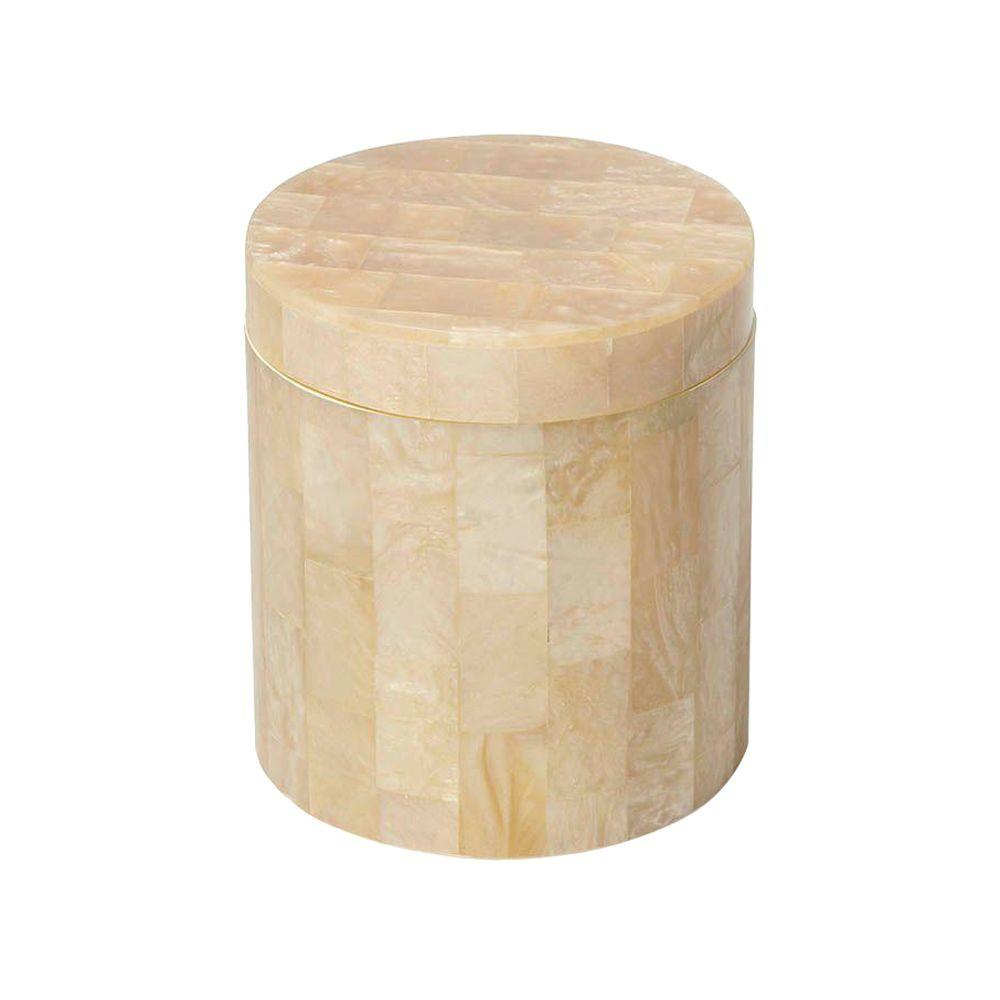 4 in. Canister in Mother of Pearl Tiles