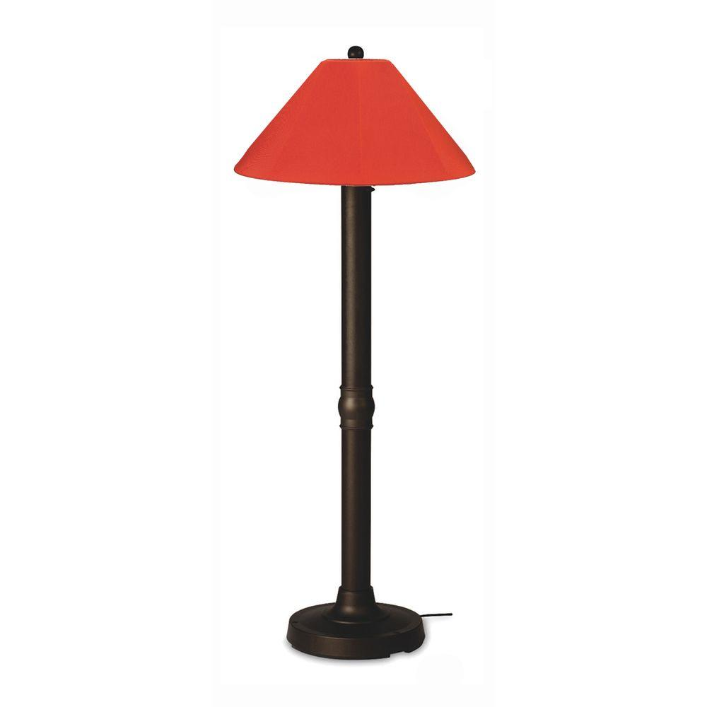 Patio Living Concepts Seaside 60 in. Bronze Outdoor Floor Lamp with Melon Shade