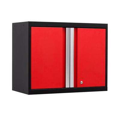 Pro 3 Series 23-1/2 in. H x 28 in. W x 14 in. D 18-Gauge Welded Steel Wall Cabinet in Red