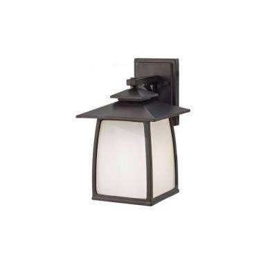Wright House 1-Light Oil-Rubbed Bronze Outdoor 12.5 in. Wall Lantern