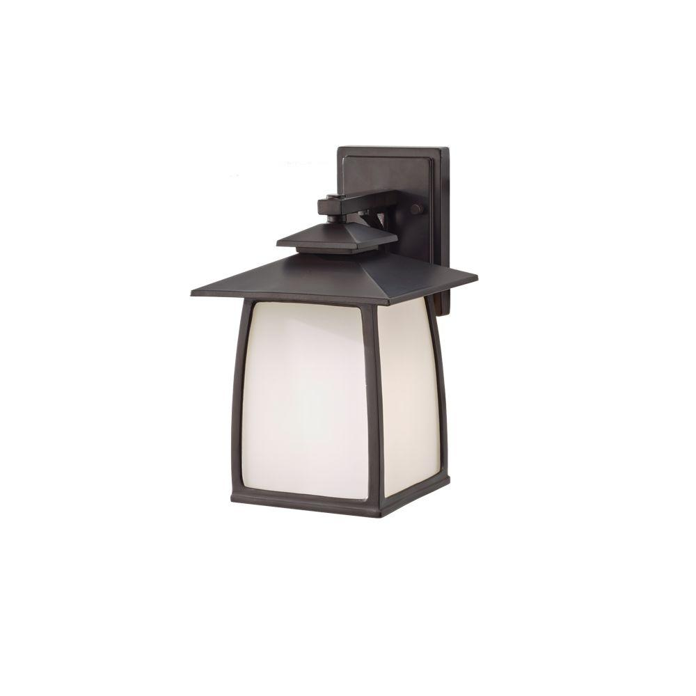 Sea gull lighting wright house 1 light oil rubbed bronze outdoor 12 5 in wall lantern sconce