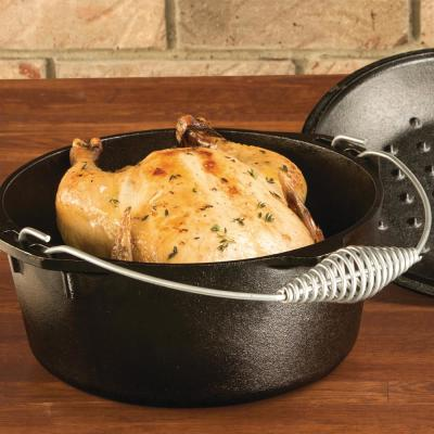 5 Qt. Cast Iron Camping Dutch Oven with Bail Handle