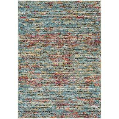 Caius Multi-color 3 ft. 11 in. x 5 ft. 11 in. Solid Area Rug