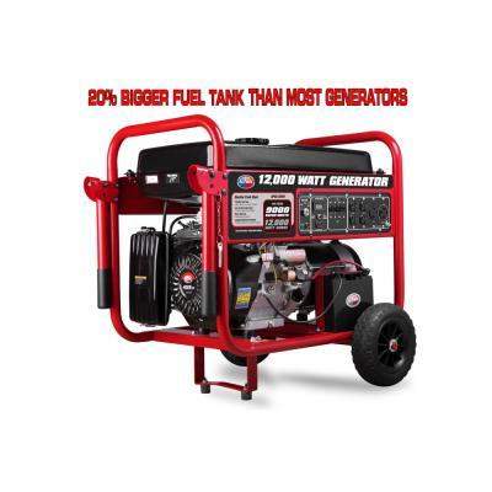 9000-Watt Gasoline Powered Electric Start Portable Generator with 459 cc Engine