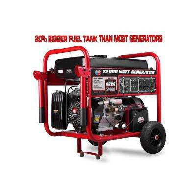 9000-Watt Gasoline Powered Electric Start Portable Generator with 459 cc Engine