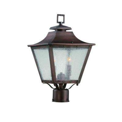 Lafayette Collection 2-Light Copper Patina Outdoor Post-Mount Light Fixture