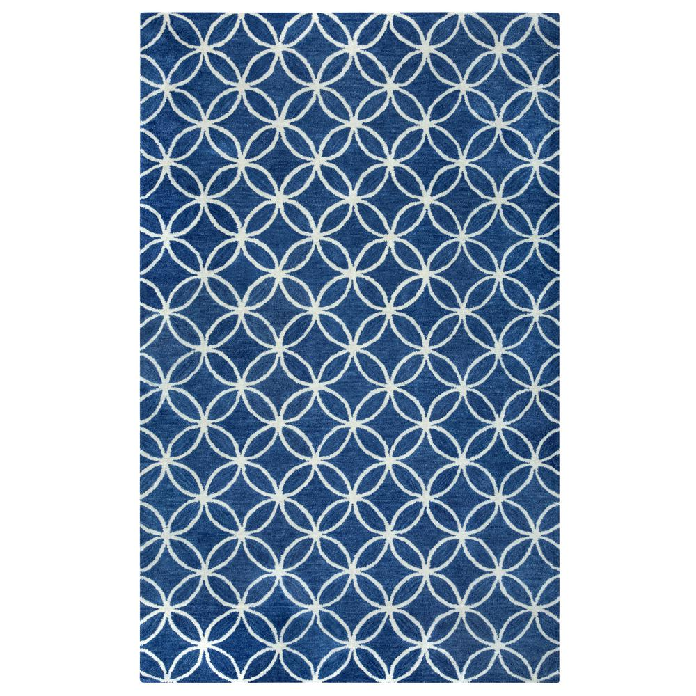 Opus Blue 3 ft. x 5 ft. Area Rug